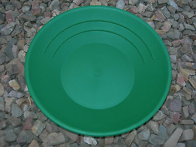 "Gold 5 Pans Panning 10"" High Impact Plastic GREEN Prospecting Mining WHOLESALE"