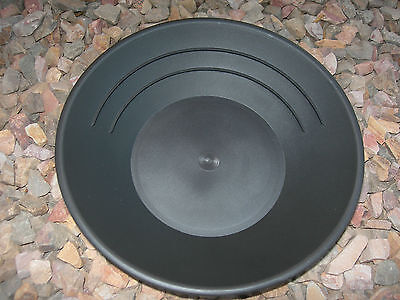 "Gold 5 Pans Panning 10"" High Impact Plastic BLACK Prospecting Mining WHOLESALE"