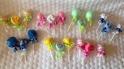 Baby Scratch Mittens & Baby Hat Lollipops Combo!! Great Baby Shower Decorations!