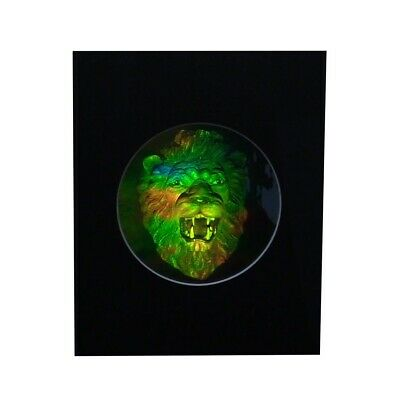LION HEAD Matted Hologram Picture, 3D Embossed Type