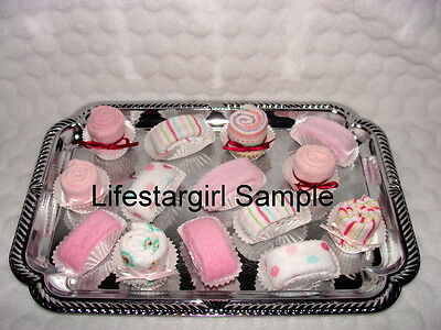 BABY WASHCLOTH Petits Fours!! Super Cute Baby Shower Favor/Decorations!