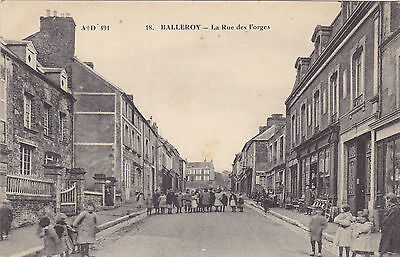 B/1 CP 547 , France , dep 14 Calvados , Balleroy , rue des forges , animation