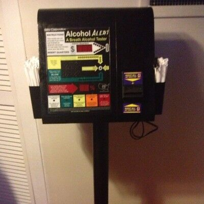 Alcohol Alert Dollar/coin Operated Breathalyzer Machine With Stand Vending