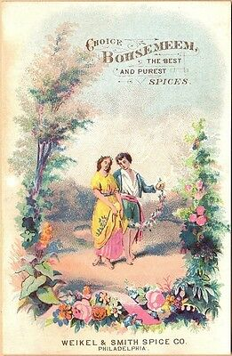 Victorian Trade Card-Bohsemeem-Weikel & Smith Spice Co-Philadelphia, PA-Couple