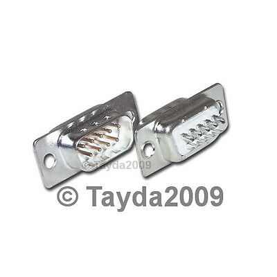 2 x D-SUB CONNECTOR 9 PINS MALE - High Quality - FREE SHIPPING
