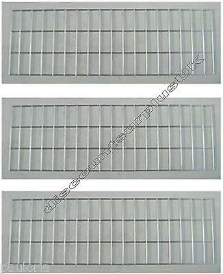 "3x CHROME GRID MESH 35"" x 11"" SHOP DISPLAY PANEL **NEW** x3 Wall Panels"
