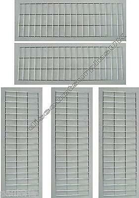 "5x CHROME GRID MESH 35"" x 11"" SHOP DISPLAY PANEL **NEW** x5 Wall Panels"