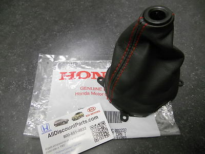06 07 08 09 10 11 GENUINE HONDA CIVIC SI RED STICHED SHIFT BOOT NEW