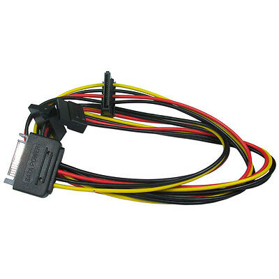 Sata Male to 3 Way Sata Female Power Connector Splitter Cable  Hard Drive HDD