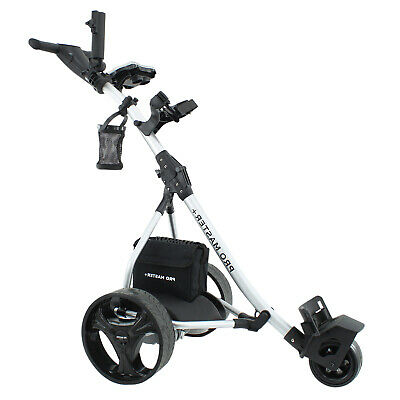 Electric Golf Trolley by PROMASTER PLUS Powered, Folding, Battery, Up to 36 Hole