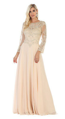 Sale !! Plus Size Mother Of The Bride Groom Dress Modest Formal Church Long Gown