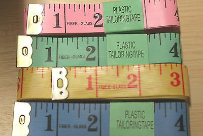 Sewing Tailors Tape Measure * BN * Pink / Blue / Yellow and Green