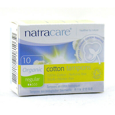 Natracare Organic Non-Applicator Tampons Regular x10