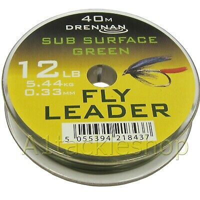 Drennan Sub Surface Green Fly Fishing Leader Tippet Material Line