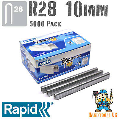 Rapid R28 10mm Cable Staples 1000 Pk For R28, Arrow T18, Rapesco CT45, Novus J19