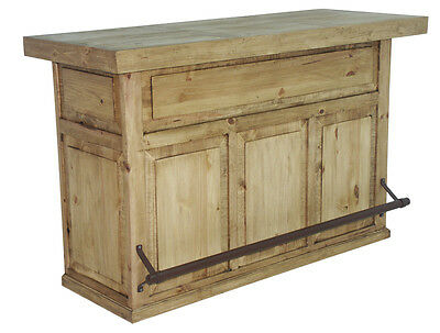 Honey Rustic Home Bar - Solid Pine - Free Shipping - Man Cave - Western - Game -
