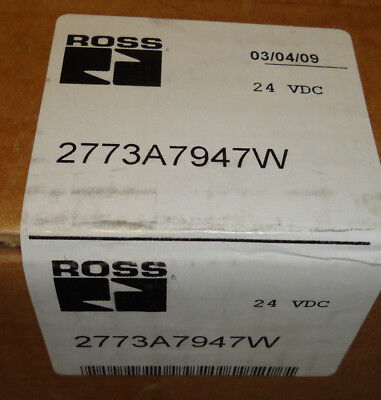 Ross 2773A7947W Electric Solenoid Valve 24 Vdc New