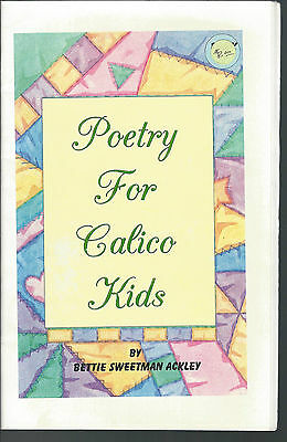 Poetry For Calico Kids Sweetman Ackley 1999 Children's Poetry