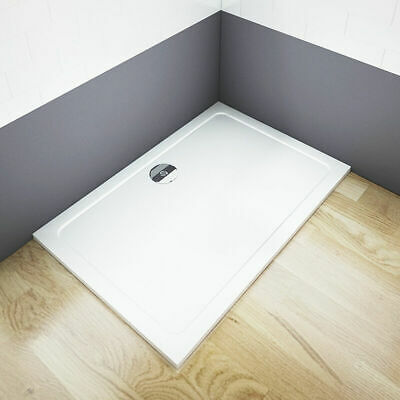 Aica 1600x900x30mm rectangle Walk in Shower enclosure Stone Tray Bathroom S5