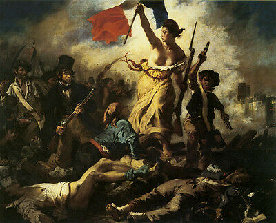 Liberty Leading the People France 1830 by Eugene Delacroix Poster Repro FREE S/H