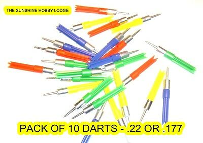 .22 .177 Darts For Air Pistol & Rifle Ballistic Darts, Pellets, Pack of 10 NEW