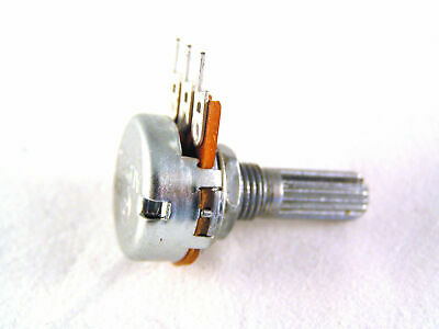 22k 16mm Commercial Logarithmic Potentiometer with serrated 6mm shaft OM0812