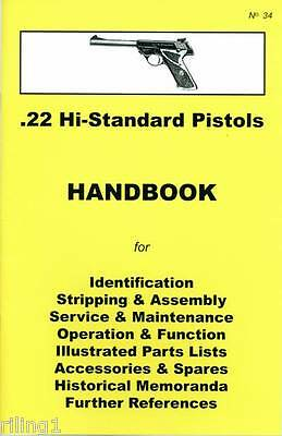 High Standard Hi-Standard .22 Pistols Assembly, Dis-assembly Manual