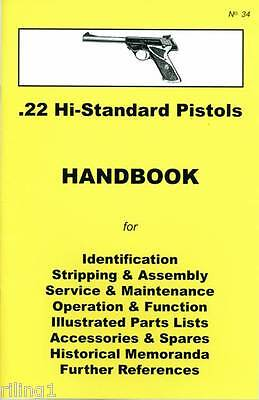 High Standard Hi-Standard .22 Pistols Assembly, Disassembly Manual
