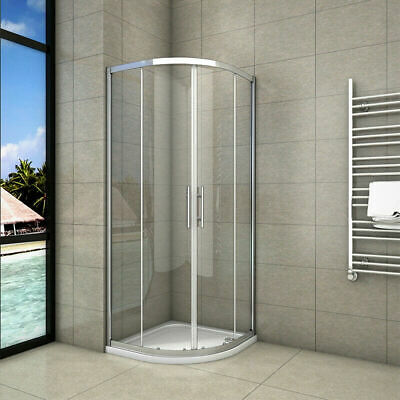 Offset Quadrant Shower Enclosure and Tray Corner Cubicle Glass Screen Riser kit
