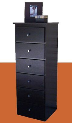 Bedrooms furniture, New slim boy, Tallboy, Chest of drawers, in chocolate brown