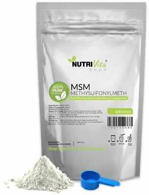 2.2 lb (1000g) 100% PURE MSM POWDER JOINT PAIN & ARTHRITIS RELIEF PHARMACEUTICAL