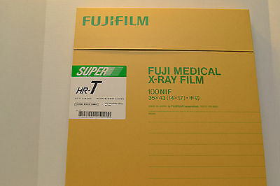 HRU1417 FUJI GREEN X-RAY FILM 14 X 17. Lowest price!