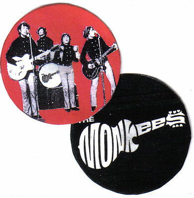 Monkees  Badges. Davy Jones, Michael Nesmith, Mickey Dolenz, Peter Tork.