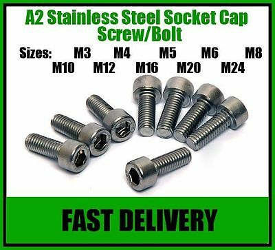 A2 Stainless Steel Socket Cap Screws, Allen Key Bolts - M10
