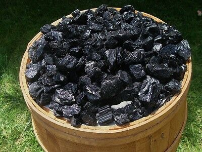 2000 Carat Lots of Unsearched Natural Black Tourmaline - Plus a FREE Faceted Gem