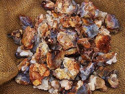 3000 Carat Lots of Unsearched Natural Fire Agate Rough + a FREE faceted gemstone