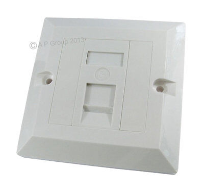 SINGLE 1 Port Way Gang Wall Face Plate RJ45 Network Ethernet Socket Faceplate