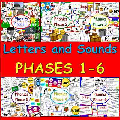 Phonics phase 1-6 teaching resources TO PRINT  Letters and Sounds- EYFS, KS1
