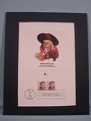 Buffalo Bill Cody & First day Cover Commerative Panel