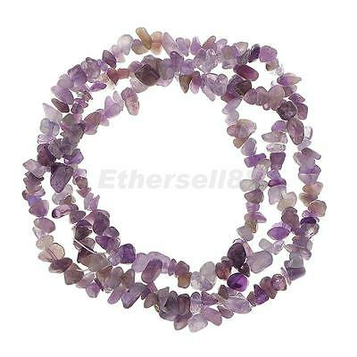 """Charming Amethyst Cabochon Gemstone Chip Loose Beads Strand Jewelry Making 34"""""""