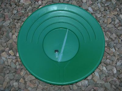 "Gold Pan Panning 14"" High Impact Plastic GREEN Prospecting + FREE SNUFFER & VIAL"