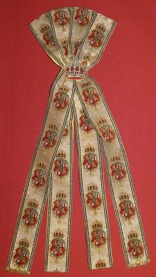 Antique 1890's Bulgarian Royalty Parade Uniform Tinsel Fragment