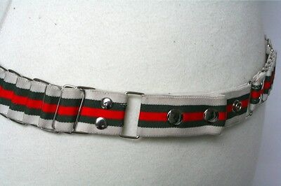 Army-style stretchy vintage belt