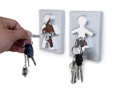 His & Her Keyholders from j-me - novelty key holder plaques
