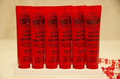 Lucas Papaw Ointment Pawpaw Cream Paw Paw Handy Tube 25g x 6  Nappy Rash Cream