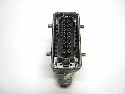 Wieland Harting 72.300.1653 16 Pin Female Connector Hood Plug