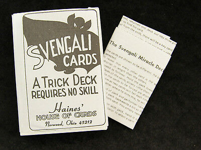 Bicycle SVENGALI Forcing Deck Playing Cards Magic Trick Gaff Easy to do classic