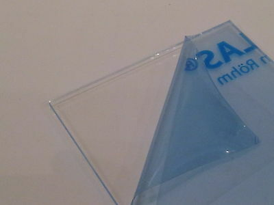 Clear Acrylic Perspex Sheet Plastic 297 x 420 2mm A3