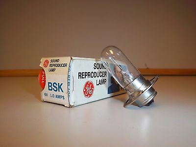 General Electric BSK Sound Reproducer Lamp. 6V 1.0 Amps. Unused!