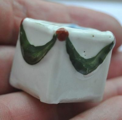 Late 19th Century Russia Tiny Biscuit Porcelain Ornated Single Candle Holder